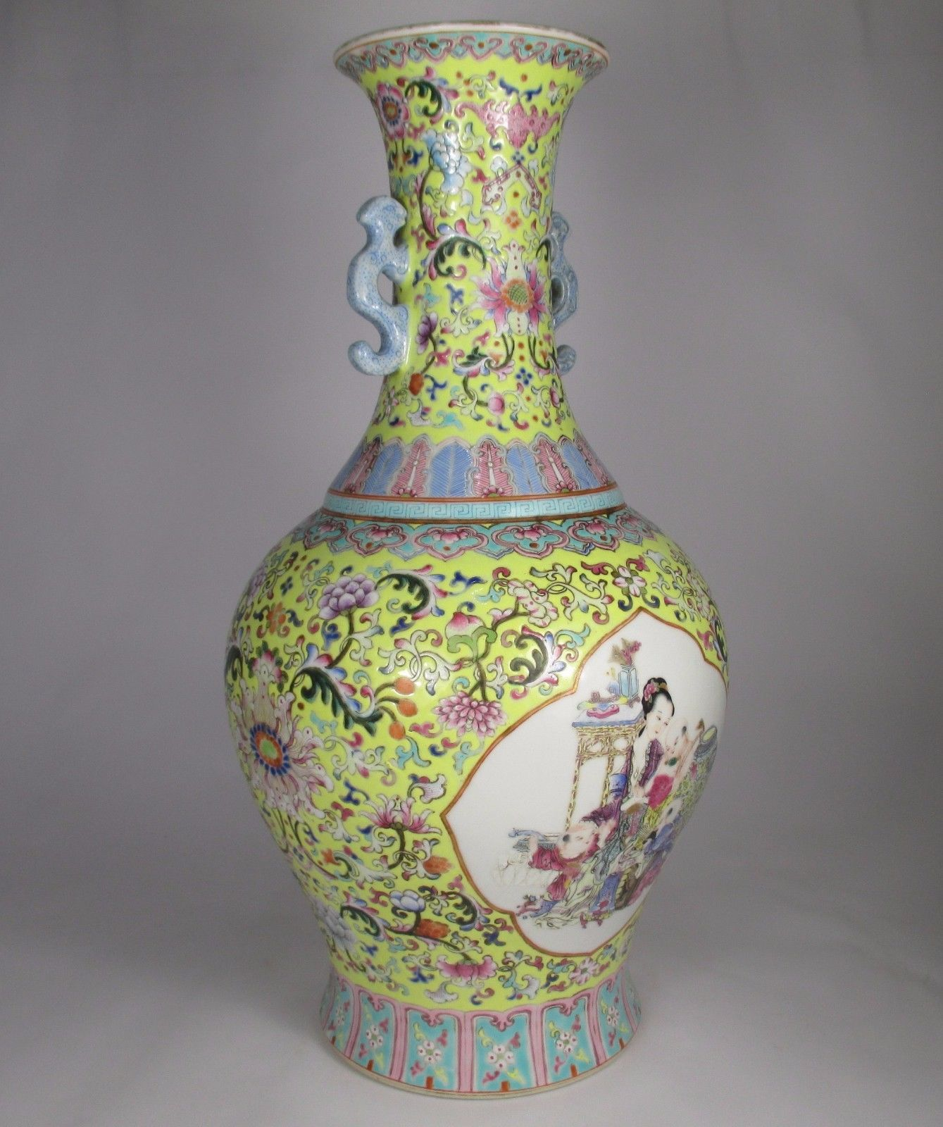 Very fine large antique chinese famille rose vase qianlong mark 2175 grams reviewsmspy