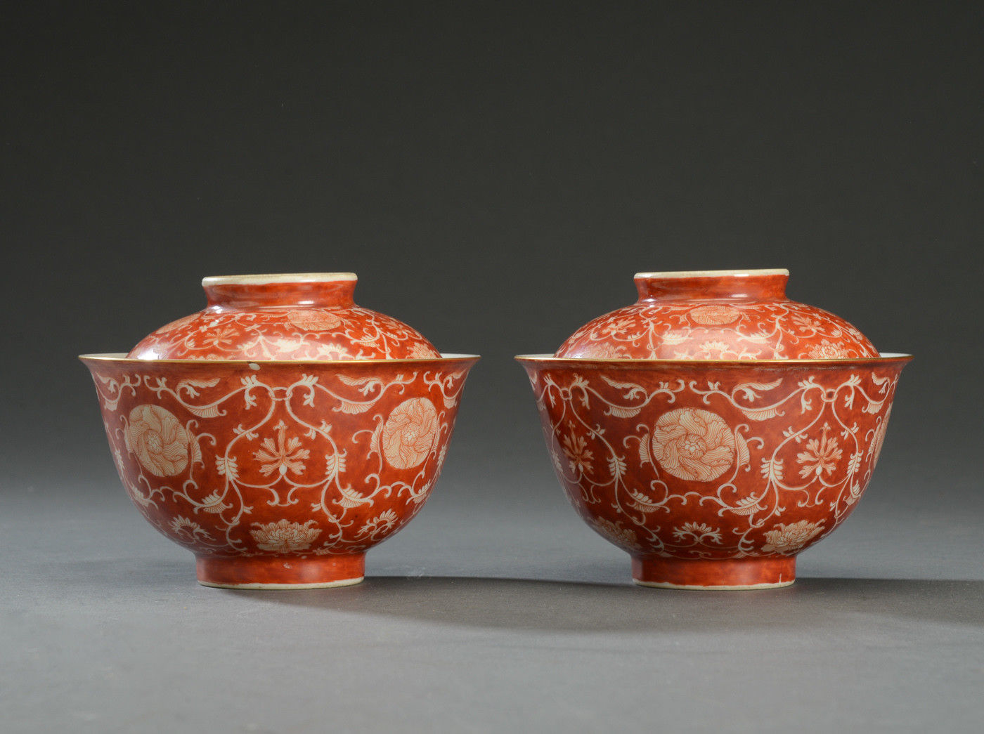 Fine Amp Rare Pair Of Antique Chinese Qing Dynasty Bowls