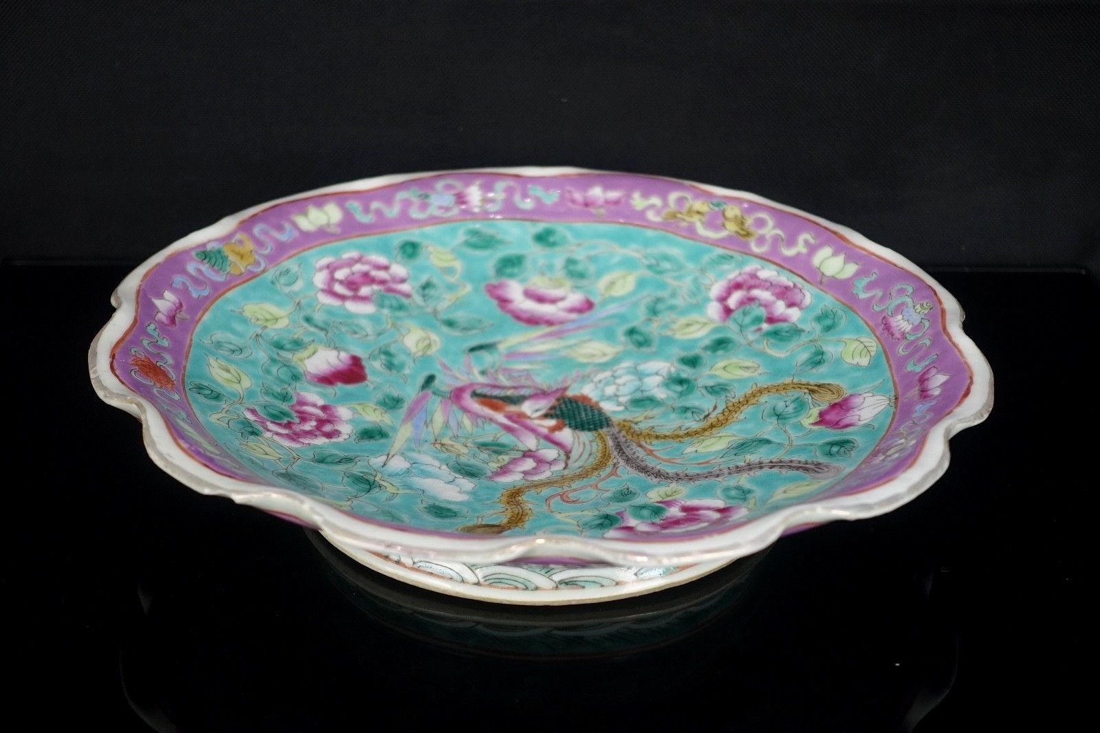 Rare Large 19th Chinese South East Asian Nyonya Peranakan