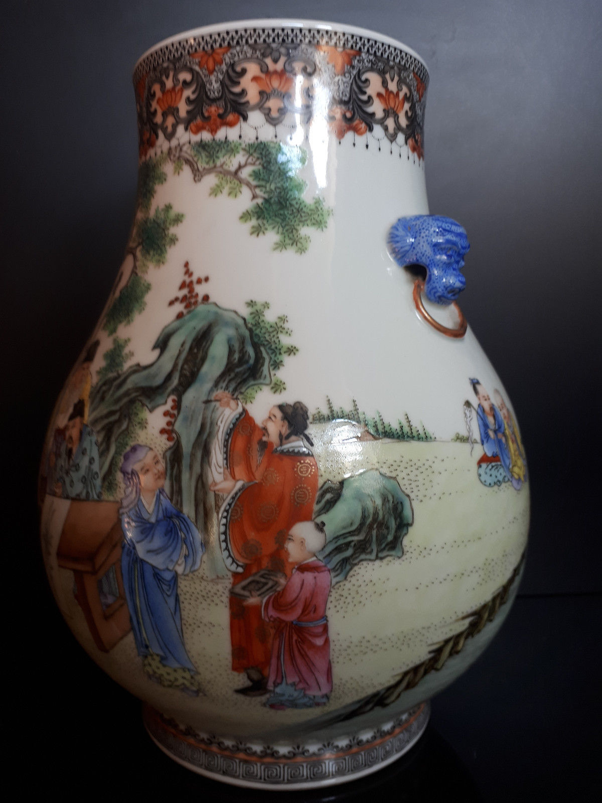 Chinese Qianlong Marked Republic Period Famille Rose Vase